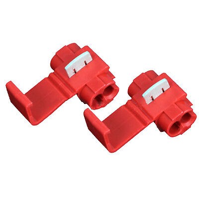 100PCS Red Scotch Lock Quick Splice 22-18 AWG Wire Connector 801P3