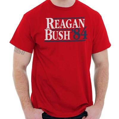 Ronald Reagan George Bush 84 Campaign US Cool Gift Republican T Shirt