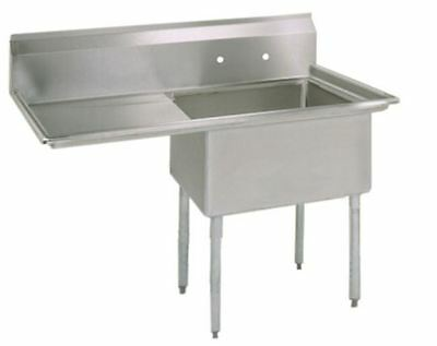 (1) One Compartment Commercial Stainless Steel Prep Pot Sink 38.5 x 23.8 G