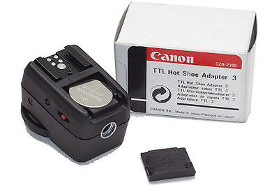 NEW Canon TTL Hot Shoe Adapter 3: Multiple Flash Off-Camera Hot Shoe 2438A001