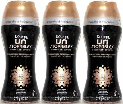 3x Downy Unstopables In-Wash Scent Booster GLOW Deodorizer 9.7 Oz Un Stopables