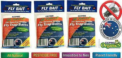Fly Trap Bait Refill 32 Small Traps, 16 Large Traps