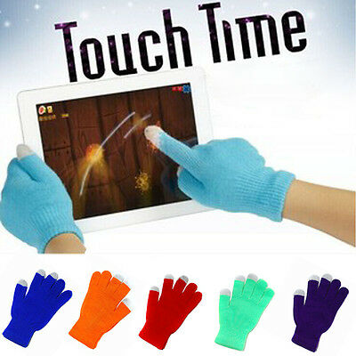 Touch Screen Gloves Smartphone Texting Stretch Adult One Size Winter Knit