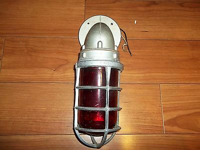 Vintage Killark Explosion Red Proof Industrial Sconce Fixture