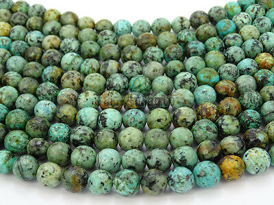 Natural African Turquoise Gemstone Faceted Round Beads 15.5'' 6mm 8mm 10mm 12mm