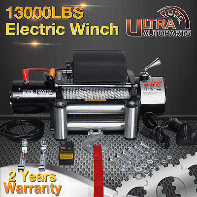 12V 13000lb ELECTRIC WINCH RECOVERY TRAILER WIRELESS REMOTE BOAT TRUCK SUV 4WD