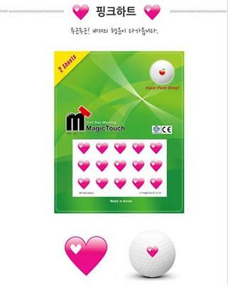 GOLF BALL MAGIC TOUCH sticker Pink Heart