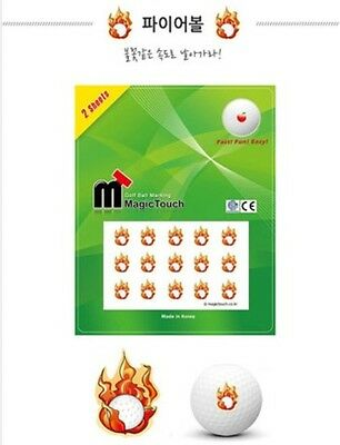 GOLF BALL MAGIC TOUCH sticker Fireball