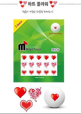 GOLF BALL MAGIC TOUCH sticker Heart Flower
