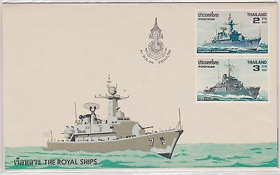 (H18-121) 1979 Thailand 2envelopes 4stamps the royal ships covers