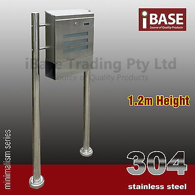 304 Stainless Steel Townhouse Mailbox Letterbox Mail Letter Post Box Stand
