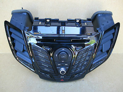 Ford Fiesta MK8 Radio CD Player Controls Centre Dash with Airvents AV1T18K811DC