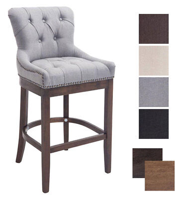 Elegant Bar Stool BUCKINGHAM Tweed Breakfast Kitchen Vintage Armchair Chair Pub