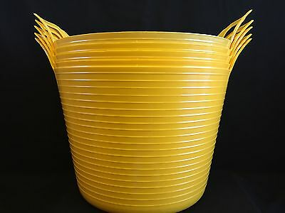 Cheap Flexi Tub / Buckets /Trugs 42L (pack of 5) Yellow Cheapest on Ebay