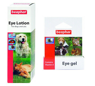 Dog / Cat / Pet Eye Care Pack: Beaphar Eye Gel 5g & Beaphar Eye Lotion 50ml