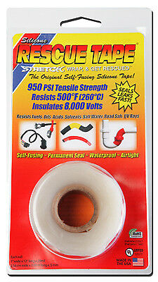 HARBOR PRODUCTS INC - Rescue Silicone Tape, Self-Fusing, Clear, 1-In. x 12-Ft.