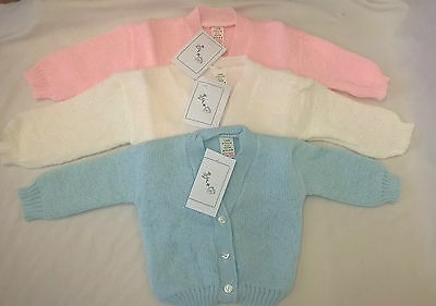 Knitted New Born Baby Cardigan Beautiful Vintage 6 - 12 12 - 18 18 - 24 Months