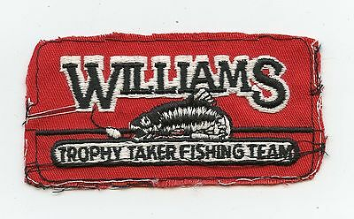 Williams Trophy Taker Fishing Team HTF Vintage Patch Proof