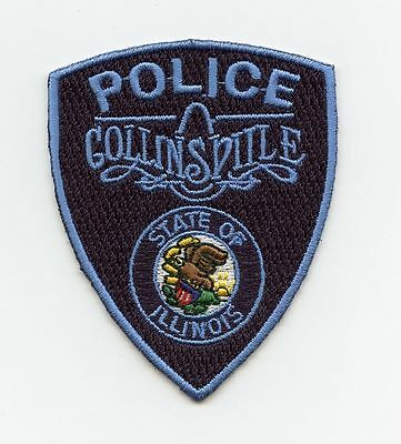 HTF Collinsville Police, Illinois, USA Sm. Uniform Badge/Patch