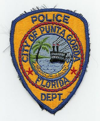 Punta Gorda Police, Florida, USA HTF Vintage Shoulder/Uniform Flash/Patch