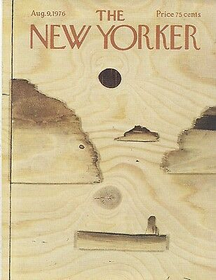 The New Yorker magazine ~ COVER ONLY ~ August 9 1976 ~ FRANCOIS ~Wood landscape