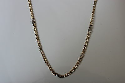 10K Yellow & White Gold Fancy Link Chain 20 inches 5 grams - NEW