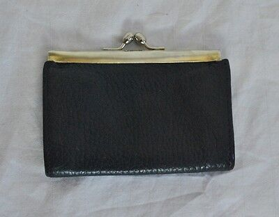Nordstrom Vintage Leather Coin Purse Navy Blue Made in Italy