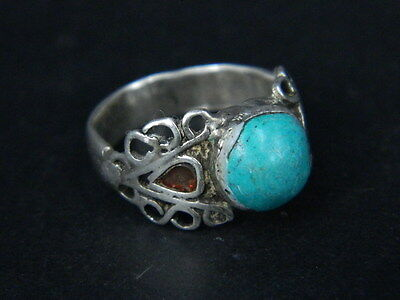 Antique Silver Ring With Stone Post Medieval 1800 AD  #STC383