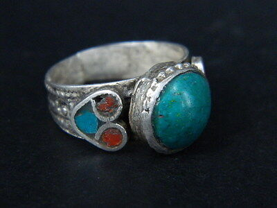Antique Silver Ring With Stone Post Medieval 1800 AD   #STC457 • CAD $25.51