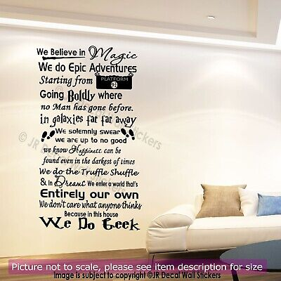 We do Geek Harry Potter Quote Vinyl Wall Stickers Nursery Wall Decals Home Decor