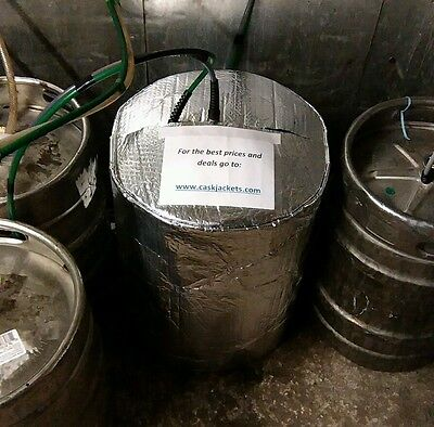 INSULATED KEG COVER & 2 ICE SHEETS cooler cooling lager beer smooth kegs barrel