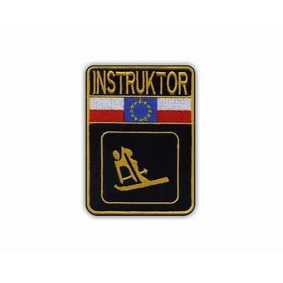 Skiing instructor - yellow color PATCH/BADGE