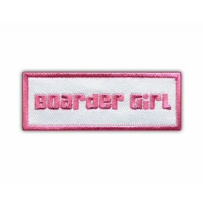 Pink Snowboard - Boarder Girl PATCH/BADGE