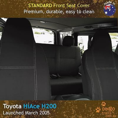 Toyota HiAce H200 (Mar 05-now) FRONT Premium Neoprene Seat Covers