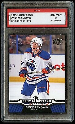 $100 CONNOR McDAVID 2015-16 NHL UPPER DECK UD 1ST GRADED 10 ROOKIE CARD OILERS