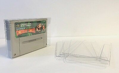 Super Nintendo SFC Super Famicon Game Cases PAL SNES Clear 3 Pack