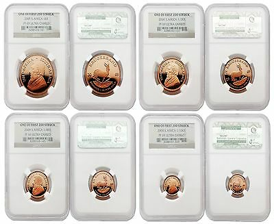 South Africa 2009 One of First 200 Struck 4pc Gold NGC PF69 ULTRA CAMEO Set