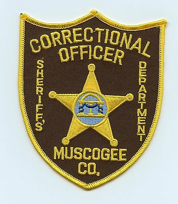 Muscogee Sheriff's Dept Correctional Officer, USA Police Shoulder Flash/Patch