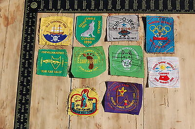 Lot of 10 Wolf Cubs Canada RARE Vintage Sample Patches/Badges #2