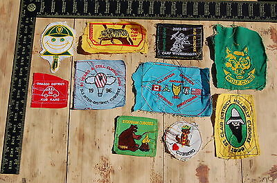 Lot of 10 Wolf Cubs Canada RARE Vintage Sample Patches/Badges #3
