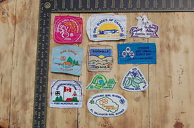 Lot of 10 Girl Guides Canada RARE Vintage Sample Patches/Badges #1