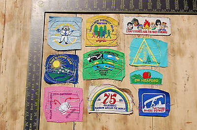 Lot of 10 Girl Guides Canada RARE Vintage Sample Patches/Badges #15