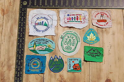 Lot of 10 Girl Guides Canada RARE Vintage Sample Patches/Badges #8