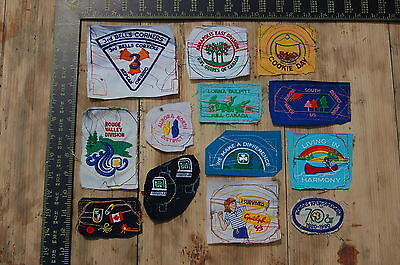 Lot of 13 Girl Guides Canada RARE Vintage Sample Patches/Badges #14
