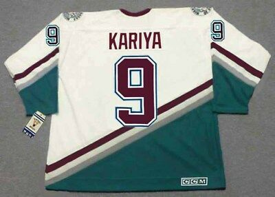 bbbdeb36b59 PAUL KARIYA Anaheim Mighty Ducks 2003 CCM Vintage Throwback Home NHL Jersey