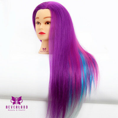 "24"" Color Hair Practice Training Head Dummy Model Mannequin Hairdressing & Clamp"