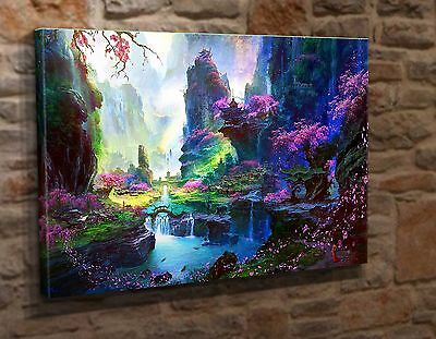 Extra Large Canvas Wall Art Picture Print Abstract Japanese Landscape AC05