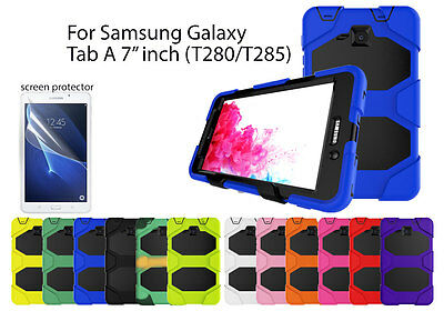 "For Samsung Galaxy Tab A 7"" Heavy Duty Shock Proof case/Screen Protector"