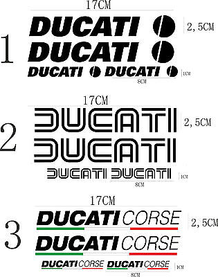 KIT 4 ADESIVI DUCATI CORSE DUCATI OLD stickers MONSTER SERBATOIO CASCO cod53
