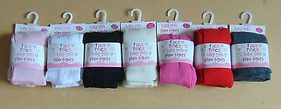 baby plain colour tick tock tights 0-6-18-24